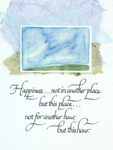 """Happiness...not in another place"" by Adele Sanborn"
