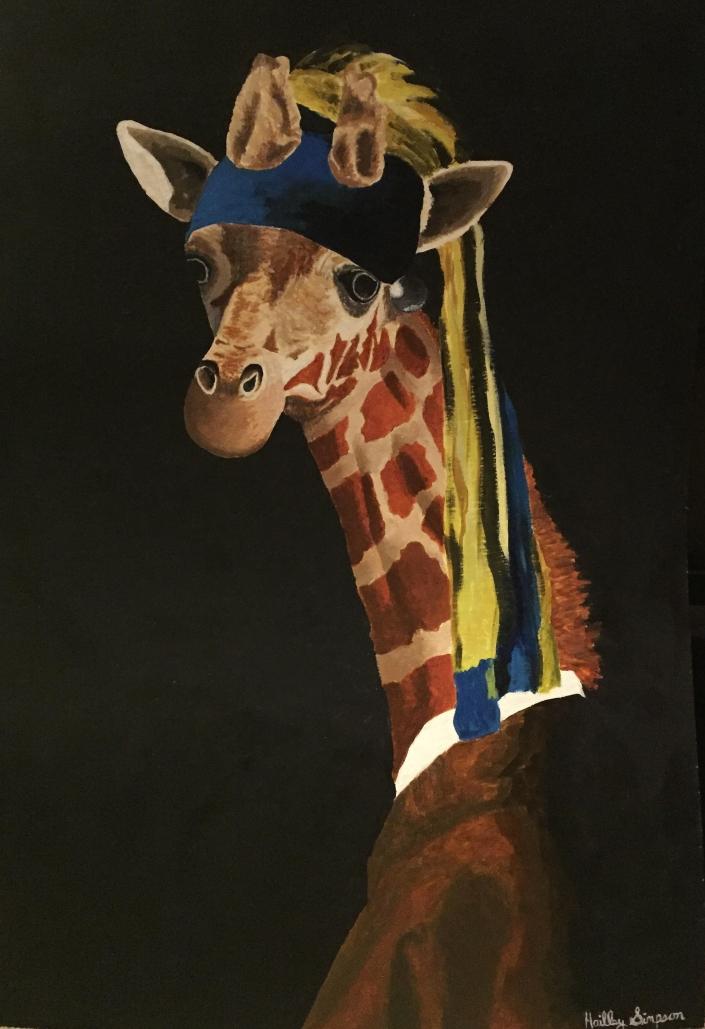 HS_Giraffe pearl earring