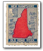NH Old Home Week Stamp